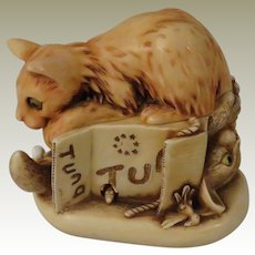 Harmony Kingdom Cannery Row Treasure Jest Box Figurine with Cats