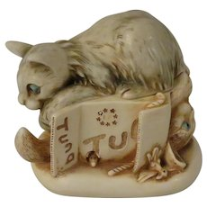 Harmony Kingdom Tony's Tabbies II Treasure Jest Box Figurine with Cats