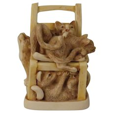 Harmony Kingdom Rumble Seat Treasure Jest Box Figurine with 6 Cats and 15 Mice