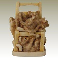 Harmony Kingdom Rumble Seat Treasure Jest Box Figurine with 6 Cats and 15 Mice