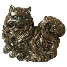 Franklin Mint Art Nouveau Curio Cabinet Cat