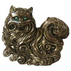 Franklin Mint Art Nouveau Curio Cabinet Cat