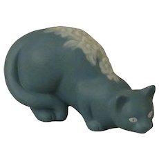 Franklin Mint Parian Curio Cabinet Cat