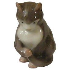 Bing and Grondahl  Kitten Sitting Porcelain Cat Figurine Model #1553