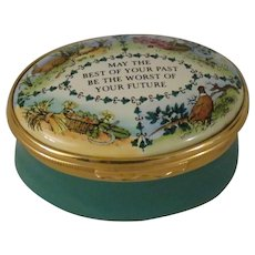 Halcyon Days May The Best of Your Past Be the Worst of Your Future Enamel Box