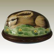 Halcyon Days Wild Rabbit Enamel Bonbonniere Box