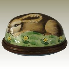Halcyon Days Wild Rabbit Enamel Bonbonniere Box