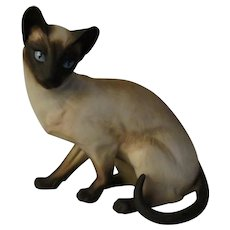 Anticipation Siamese Cat Porcelain Figurine by Artist Eric Tenney for Franklin Porcelain with paperwork