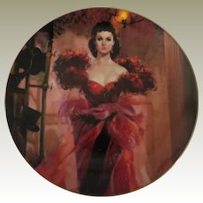 Scarlett's Resolve Gone With The Wind W S George Limited Edition Collector Plate