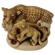 Harmony Kingdom Sleepy Hollow Box Figurine Featuring Leopards