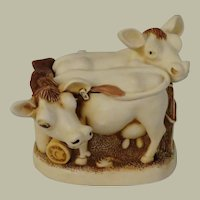 Harmony Kingdom Jersey Belles Treasure Jest Box Figurine with Cows and a Cat