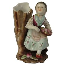 Ucagco Hand Painted Girl on a Log Bud Vase Made in Japan