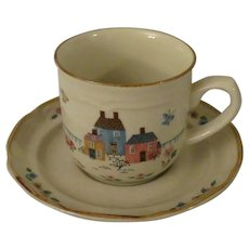 International Stoneware Heartland Coffee Cup and Saucer from Japan