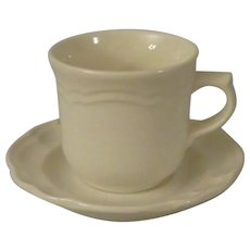 Pfaltzgraff Gazebo White Stoneware Cup and Saucer