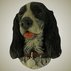 Bossons Black Cocker Spaniel Wall Head Mask or Plaque
