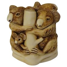 Harmony Kingdom Family Tree Small Treasure Jest Box Figurine with Koalas