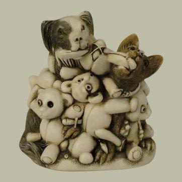 Harmony Kingdom Perished Teddies Treasure Jest Box Figurine Infinity Version aka Petty  Teddies