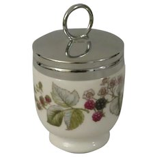 Royal Worcester Lavinia Egg Coddler with Blackberry Pattern