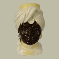 Royal Copley Blackamoor Head Vase