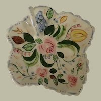 Southern Potteries Blue Ridge Verna Maple Leaf Cake Tray