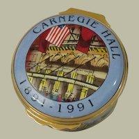Halcyon Days Carnegie Hall Centennial Enamel Box Designed by Tiffany & Co