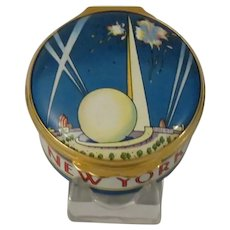 Halcyon Days World's Fair of 1939 50th Anniversary Enamel Box Designed by Tiffany & Co