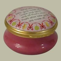 Halcyon Days  Sugar and Spice Enamel Box
