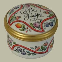 Halcyon Days Bee Happy Small Enamel Box