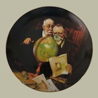 Newfound Worlds by Norman Rockwell Edwin M Knowles Limited Edition Collector Plate