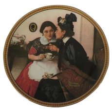 Gossiping in the Alcove by Norman Rockwell Limited Edition Collector Plate