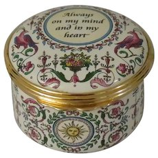 Halcyon Days Always on My Mind and in My Heart Enamel Box