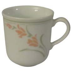 Corning Corelle Peach Garland Mugs - Set of 2