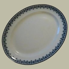 Keeling & Co Croxton Losol Ware Platter in Cobalt Blue Scroll Design