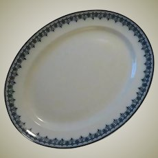 Keeling & Co Croxton Losol Ware Platter in Cobalt Blue Scroll Design