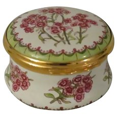 Halcyon Days  Sweet William Enamel Box