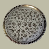 Georges Briard Persian Garden Round Bent Glass Platter
