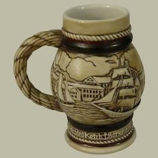 Avon Mini Stein or Mug by Ceramarte Depicting Sailing Ships