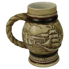 Avon Mini Stein or Mug by Ceramarte Depicting Sailing Ships