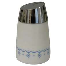 Starline Milk Glass Snowflake Blue Sugar Dispenser Companion Piece for Corning Corelle and Pyrex