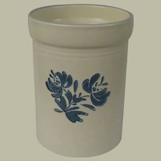Pfaltzgraff Yorktowne Canister with Blue Floral Design