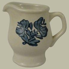 Pfaltzgraff Yorktowne Creamer with Blue Floral Design