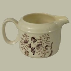 J & G Meakin Windswept Brown Creamer