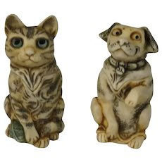 Harmony Kingdom Pet Parade Mini Treasure Jest Limited Edition Box Figurines Cat and Dog