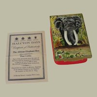 African Elephant Ahmed Kenya's National Monument Limited Edition Signed Halcyon Days Enamel Box
