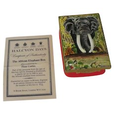 African Elephant Ahmed Kenya's National Monument Limited Edition Signed Halcyon Days Enamel Box