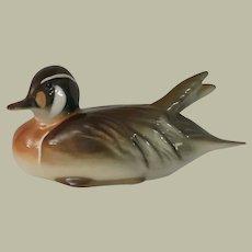 Lomonosov  Russian Porcelain Baikal Duck Figurine