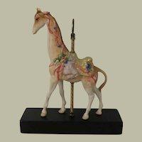 Cybis Porcelain Carousel Giraffe Sir Cuthbert Signed Limited Edition