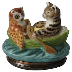Halcyon Days Owl and the Pussycat Bonbonniere