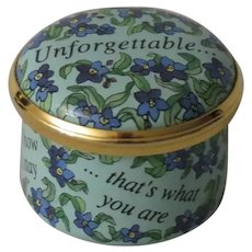 Halcyon Days Unforgettable Mini Enamel Box with Tribute to Nat King Cole