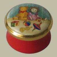 Halcyon Days Mini Enamel Box with Children's Toys